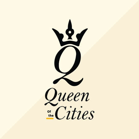Queen Of The Cities vector logo design template
