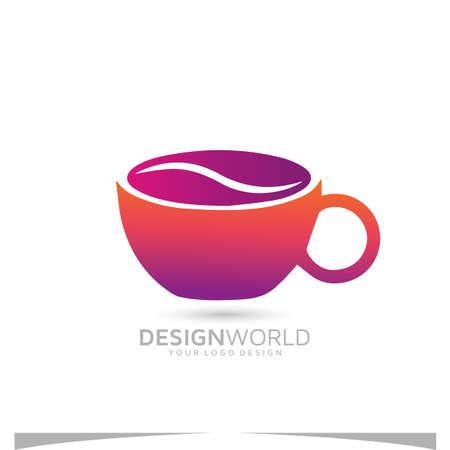 perfect coffee cup vector logo design idea.