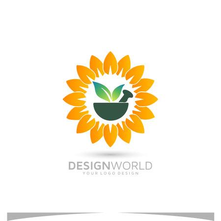 Hometown Pharmacy and medications vector logo design idea.