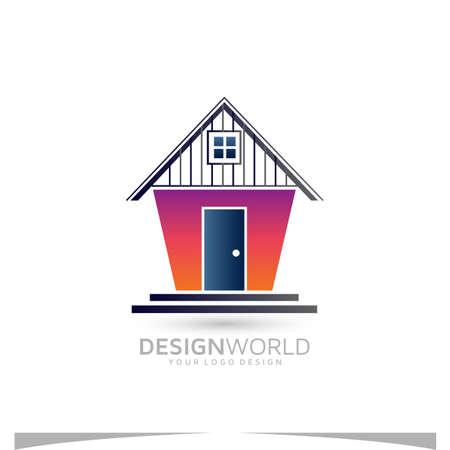 warehouse vector logo design idea.
