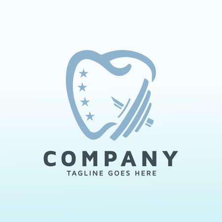 Dental doctor fitness logo vector design template