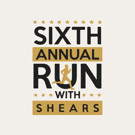 Run With shears Custom t-shirt design