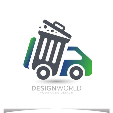 junk removal services to businesses and consumers vector logo design template Logo
