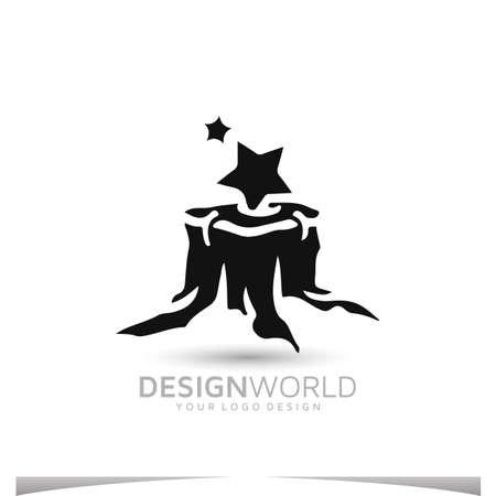grinds tree stumps vector logo design template Logo