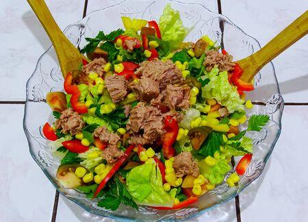 tuna salad: A fresh and colorful tuna salad