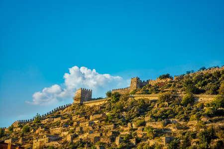 Alanya: Alanya castle (alanya,Turkey) Stock Photo