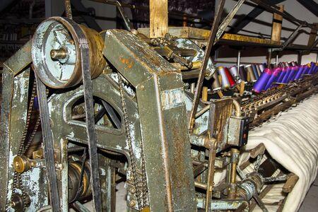 textile machine: old textile machine