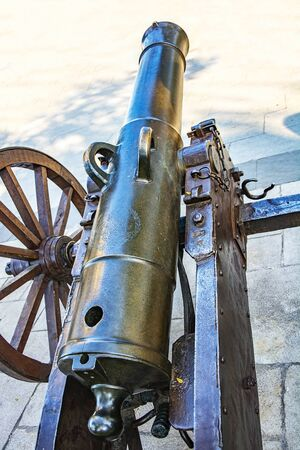 historic: Historic cannons Stock Photo