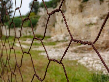 rusty wire: rusty wire mesh Stock Photo