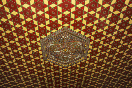 plafond: 13-19th islamic plafond decoration (Ottoman Empire period)