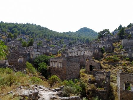 karmylassos: ghost town,fethiye Stock Photo