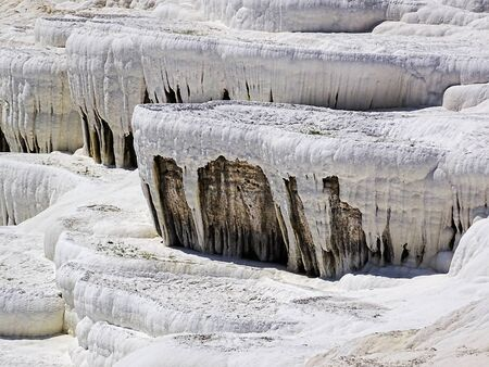 travertine: pamukkale travertine,Turkey Stock Photo