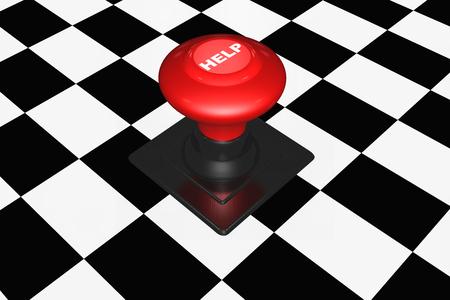 help button: 3d Help button