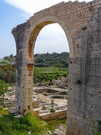roma antigua: Turqu�a  Mersin  elaiusse sebaste  antigua ciudad de Roma Foto de archivo