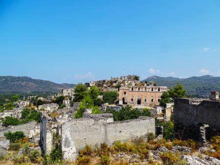 ghost town Fethiye Stock Photo