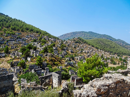 karmylassos: Ghost town,Fethiye,Turkey Stock Photo