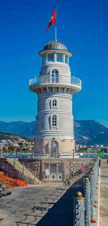 Alanya: alanya lighthouse (alanya,Turkey) Stock Photo