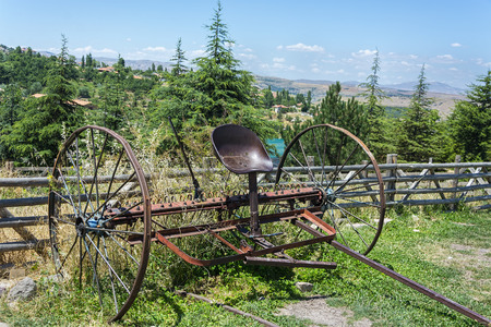 Old and rusty plow - Old fashioned agricultural plough Reklamní fotografie