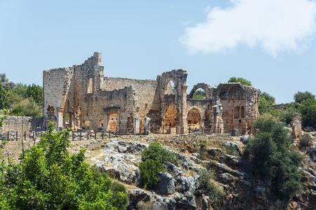 kanlidivane ancient city.(mersin,Turkey) Stock Photo
