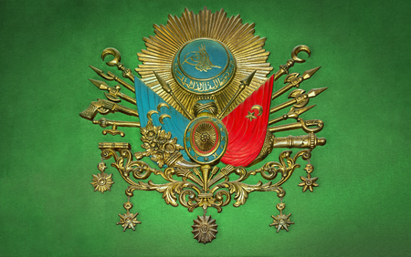 Old Ottoman Empire Emblem ( Old Turkish Symbol ) Stockfoto