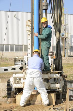 地下水の汚染の制御のための地質調査 報道画像