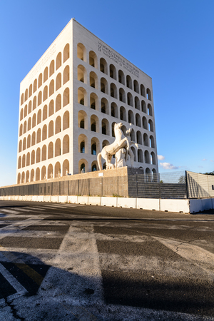 civilization: The Palace of Italian Civilization, sometimes also called the Civilization of Labor, is a monumental building that is located in Rome in the modern EUR district.