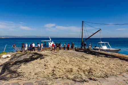 Carloforte, Island of San Pietro, Italy - 08 May 2014: 에디토리얼