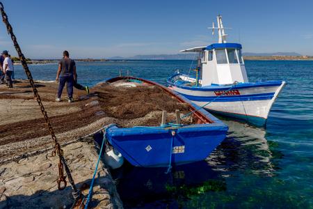 Carloforte, Island of San Pietro, Italy - 08 May 2014: Archivio Fotografico - 105180634