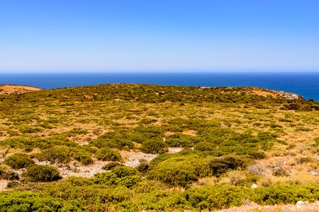 The Planu Sartu (or Pranu Sartu) mine is located on the calcareous plateau west of Buggerru . Archivio Fotografico - 106235461
