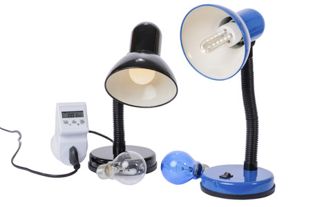 Led lamp illuminated with lampholder replaces the old obsolete light bulbs. An energy meter calculates the savings of electrical energy.