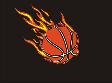 basketball ball in fire: basketball fireball