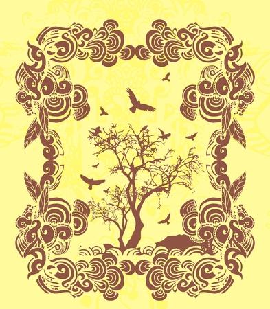 woody: tree and birds
