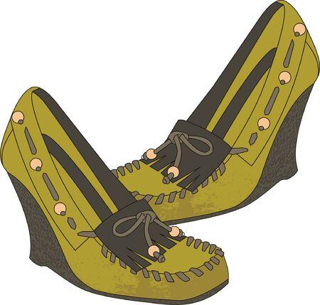 pump shoe: green shoes