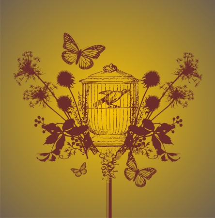 butterfly freedom Stock Vector - 6118489
