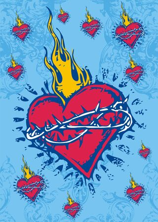 hot heart  Vector