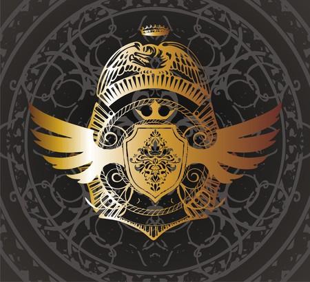 ideogram:   gold arming
