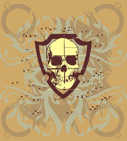 skull arming  Vector