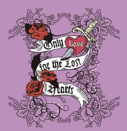 tattoo rose  Illustration