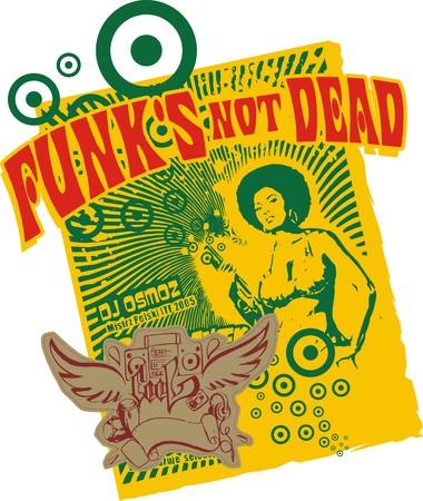 funks not dead  Illustration