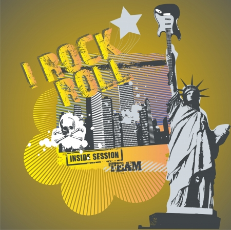 rock'n roll liberty  Stock Vector - 6506909