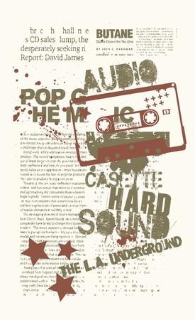 audio casete  Illustration
