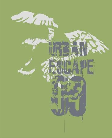 urban escape  Illustration