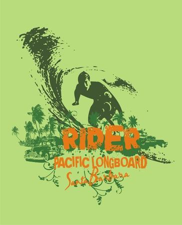 surf rider  Illustration