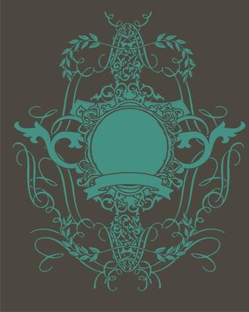baroque line Illustration