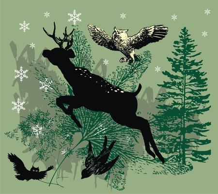 black deer Stock Vector - 9876630