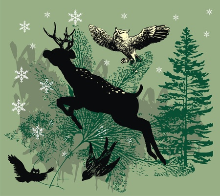 black deer Vector