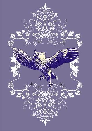consternation: owl life Illustration