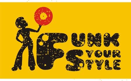 vinyl: funk style Illustration