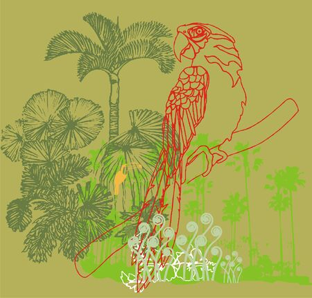 forest bird Vector