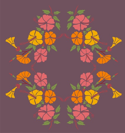 flower borders Vector